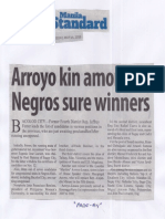 Manila Standard, May 14, 2019, Arroyo kin among Negros sure winners.pdf