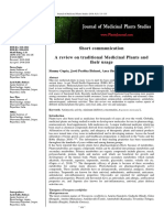 A Review on Traditional Medicinal Plants