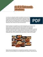 Historia de La Gastronomia Colombiana Clasificada Por Regiones