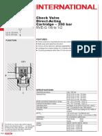 Hydac RVE check valves