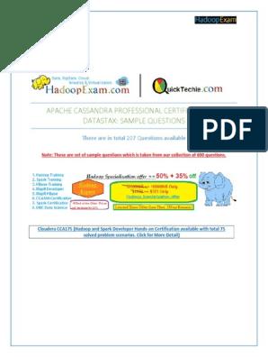 Cassandra Certification Study Guide DataStax | Apache Hadoop