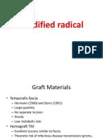 Moidified Radical Mastoidectomy