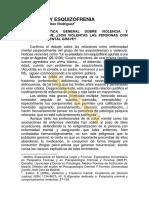 Esbeq (Articulo) Violencia y Esquizofrenia