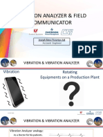 Vibration Analyzer and Field Communicator Presentation