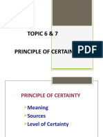 Principle of Certainty