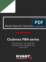 KVANT Clubma FB4 Series User Manual v100918