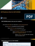 SAP Readiness Check PUBLIC