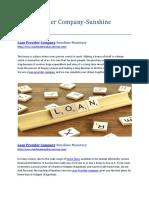 Loan Provider Company-Sunshine Monetary.docx