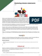 101 Example B2B Marketing Mission Statements – a Marketing & Business Blog