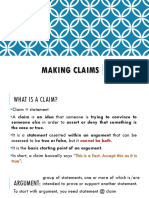 Topic 2 Making Claims
