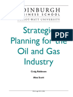 Strategic Planning for the Oil and Gas I