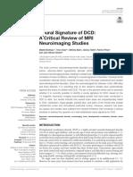 Neural Signature of DCD