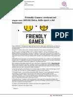 Convegno e Friendly games