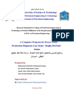 A Computer Program for Excess Water Production Diagnosis Case Study– Heglig Oil Field – Sudan