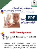 YU - UGS - Embryology - Part 1