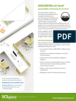 ANSI:BIFMA e3- level® Sustainability Certification for Furniture SGS