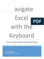 Navigate Excel without the key board