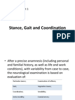 1 - Stance, Gait and Coordination