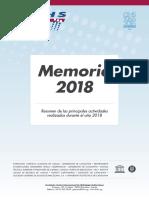 Memoria FCIHS 2018
