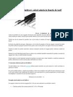 Salarizare Acord Indirect , Salariu in Functie de Tarif