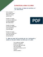 Ejercicios de La Forma Del Poema