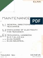 Elna Supermatic Mechanical Handbook E3