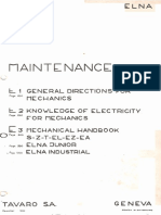 Elna Supermatic Mechanical Handbook E3