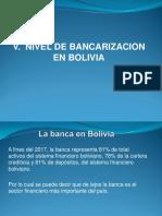V. Nivel de Bancarizacion en Bolivia