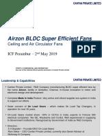 CANFAN Airzon BLDC Super Efficient Fans - ICF Perambur