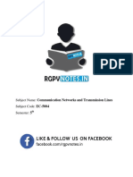 Unit 4 - Communication Networks and Transmission Lines - Www.rgpvnotes.in