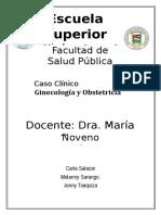 Caso Clinico. Grupo 8