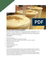 Cómo Hacer Chicha de Pasta