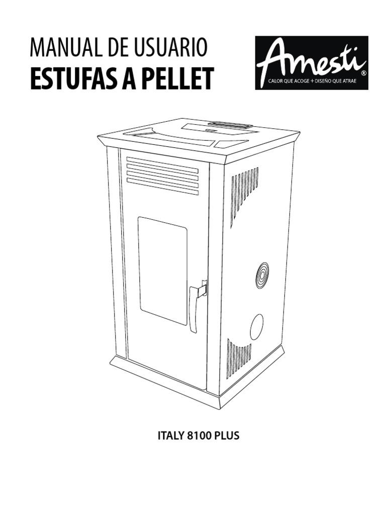 Manual Estufa Pellet Amesti Italy 8100 Plus-29012019