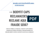→ BodyFit CAPS Cápsulas | Reclame AQUI - É Fraudulento SERÁ??