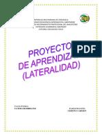 Proyecto de Aprendizaje Lateralidad