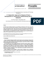A Comparative Approach of Japanese Project Management in Construction Manufacturing and It Industries