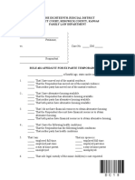 Affidavit for Ex Parte Order