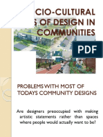 Socio-cultural Basis of Design in Communities