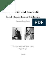 Durkehim and Foucault - Social Change Through Scholarship