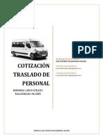 Cotización Traslado Personal Empresa Luis Patricio Maldonado.docx