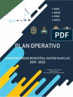PLAN OPERATIVO MANCOMUNIDAD MUNICIPAL HATUN HUAYLAS - 2018-2020