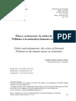 Etica y Eudaimonia La Critica de Bernard Williams