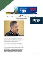 Sb Dilarang Attend Sidang Media