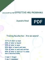6. Designing HRD Programs