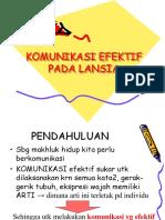5.Komunikasi Pada Lansia