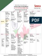 NIFM PGDM 2019 Program Calendar