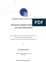 Ergonomic Investigation of Hand Tools (Case Study - Bottle Opener)