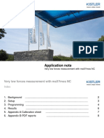 Application Note (Very Low Forces With MaXYmos NC and 9217A Sensor)