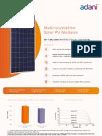Datasheet Adani Solar 72 Cell 300 330 Wp India