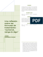 A. Una Reflexión Sobre Las Formulas de Tratamiento - Sumercé, Venga Le DIgo - Javier Guerrero Rivera